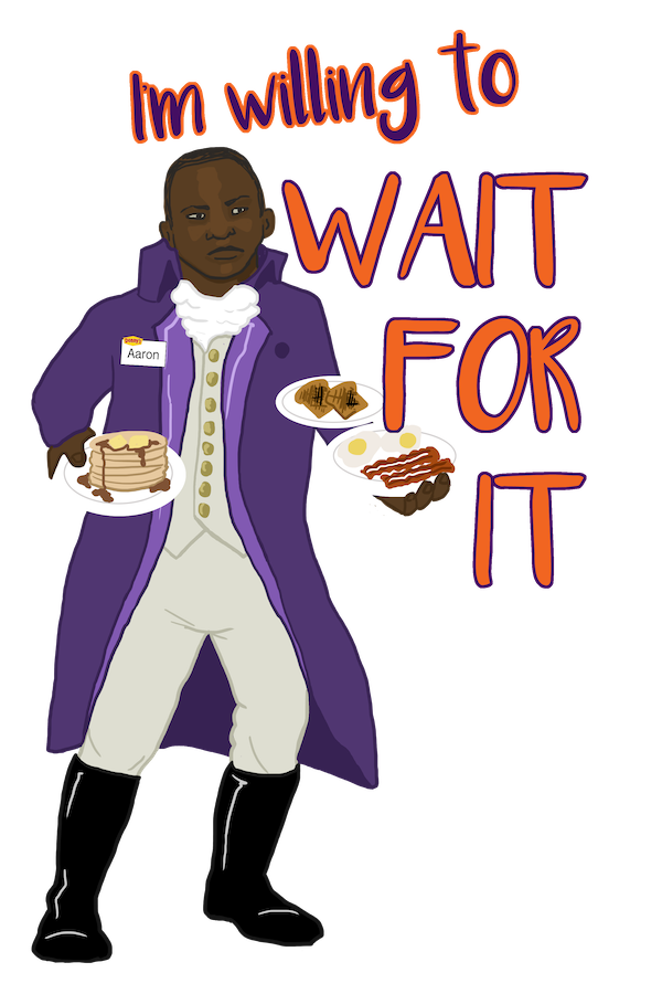 Aaron Burr Waiting Tables